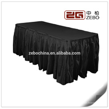 100% Ployester Satin Stoff Bankett oder Hochzeit verwendet Großhandel Leinen Tisch Röcke