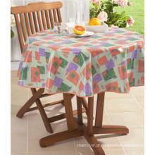 Toalha de mesa impressa redonda decorativa do casamento extravagante do hotel de LFGB com apoio
