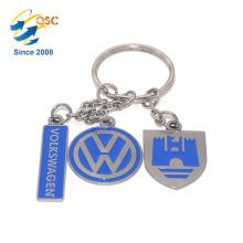 Heißer Verkauf Billig Werbe Benutzerdefinierte Handtasche 3D Metall Schlüsselbund
