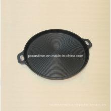 Rodada de ferro fundido Griddle De China