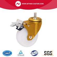 Nylon-Rad Thread Stem Swivel industrielle Caster