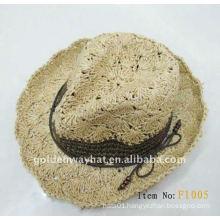 women paper Rasta Crochet sun hats