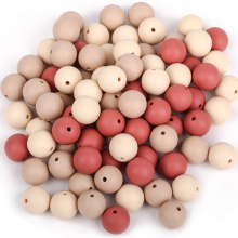 Food Grade 15mm Round Silicone Teething Beads