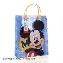 Подгонянный шарж печатания выдвиженческий мешок подарка пластичного (мешки PVC)