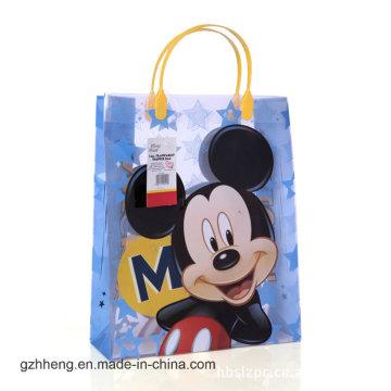 Sac à main promotionnel en plastique promotionnel pour imprimé de bande dessinée (sacs en PVC)
