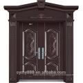 Porte d'entrée en acier de conception supérieure élégante de luxe de Rome plus haut étape par étape sûr dévorateur