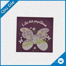 Etiqueta principal não-tecida de borboleta colorida