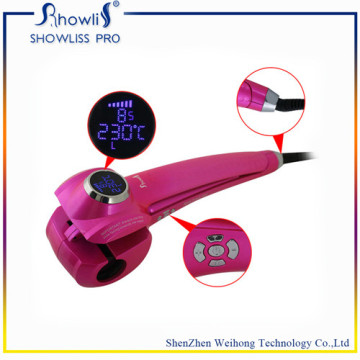 Portable Ladys Mch Aquecedor LCD Screen Hair Curly Iron