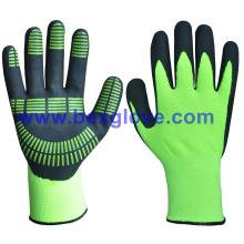15 g de guantes revestidos con nitrilo, buen agarre