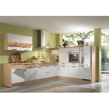 L Shaped Customized Lacquer Kitchen Cabinets