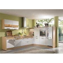 Gabinete de cozinha em forma de laca em forma de L