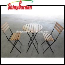 3 piezas de madera portátil que cena el sistema plegable de la tabla y de la silla, mesas y sillas del partido