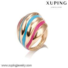 14385 Anillo de dedo colorido formado irregular de la pintura al por mayor de la joyería de las señoras