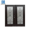 Fangda premium safety door designs with wrought iron door
