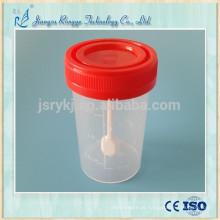 60ml urina descartável copo recipiente de fezes com colher