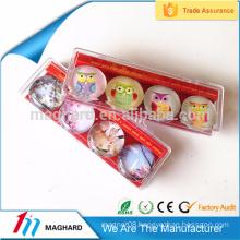 Custom crystal glass fridge magnet magnetic glass holder