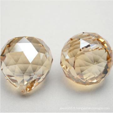 Pièces de chandelier en cristal ambre 2015, rideaux de fenêtre en cristal