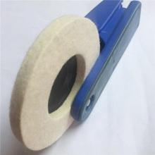 Rueda de pulido de fieltro de lana montada 100% para joyería