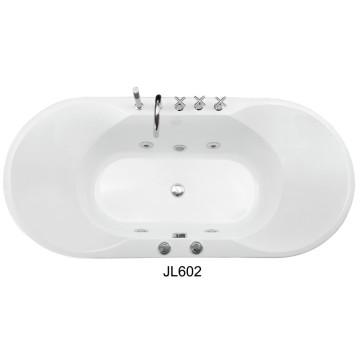 Современная крытая акриловая ванна (JL602)
