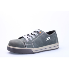 Single density navy suede leather shoes