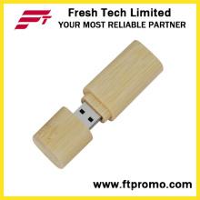 Beweglicher Bambus u. Hölzerner Art USB-Blitz-Antrieb (D803)