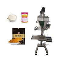 Strong Flour Whole Wheat Flour Powder Cans Bottles Premade Bags Auger Filler Semi Automatic Powder Filling Machine