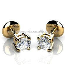 Venta al por mayor pendiente chapado en oro para mujer joyería fabricante