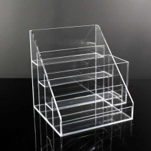 4 Tier Clear acryl make-up standaard