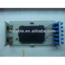 Wandmontierte Metallbox ODF SC24 mit Adapter und Pigtails