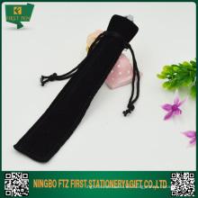 Bolso barato negro de la pluma del terciopelo