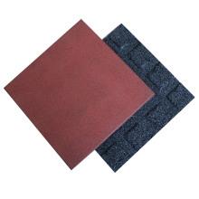 Gym exercise Playground Antislip 500*500mm 1000*1000mm Rubber Tile