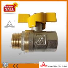 Válvula de esfera de gás em latão de encanamento forjada (YD-1023-1)