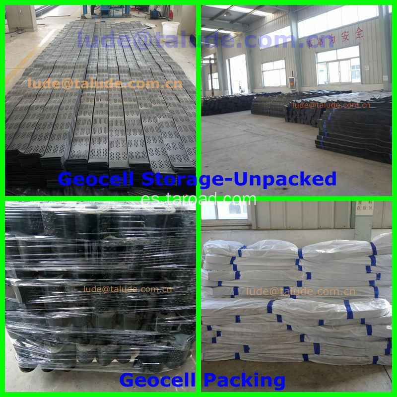 HDPE Geocell used for Slope Protection