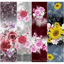 Hermoso estampado de flores 100% algodón tejido estampado