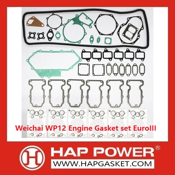 HAP-HD-014 Weichai WP12 Engine Gasket set EuroIII
