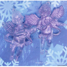 Église Glitter Angel christmas decoration