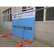 Clôture temporaire galvanisée / visibilité élevée Clôture soudée en maille moulée / cloture en PVC Crampon (Anping)