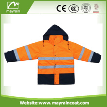 Reflective Workwear Cheap Warm Orange Safety Jacket