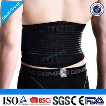 Ceinture de soutien arrière respirante réglable en gros faite sur commande en gros de fournisseur pour unisexe
