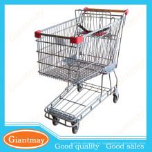Estilo australiano de acero inoxidable supermercado caminar carrito de la compra