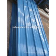 Techo de aluminio de bajo precio y panel de pared corrugado, galvanizado Galvalume Panel de teja de metal R panel, Aluzinc barato hoja de panel