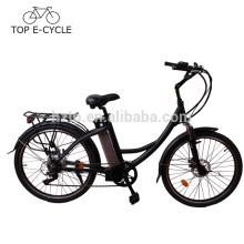 Bicicleta eléctrica CE EN15194 250W verde energía eléctrica ciudad bicicleta hecha en China