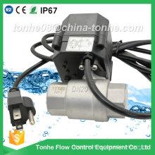 Dn20 Válvula de bola eléctrica actuada en acero inoxidable con tapón Válvula motorizada