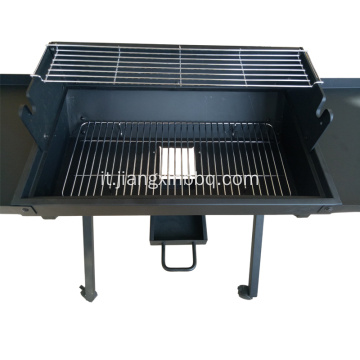 Trolley Charcoal Grill Outdoor con tavolino
