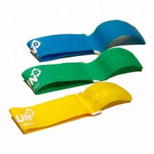 Custom hang tags label designs garment pant Hook and loop magic tape logo tag