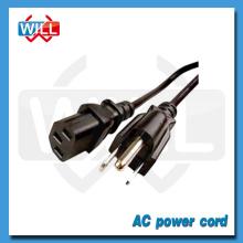 Certificado UL CUL 125v 250v alta calidad Canadá cuerda de extensión eléctrica