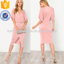 Twist Front Kimono Kleid Herstellung Großhandel Mode Frauen Bekleidung (TA3154D)