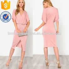 Twist Frente Kimono Dress Fabricação Atacado Moda Feminina Vestuário (TA3154D)