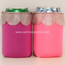 Collapsible lace design can coolers beer holders