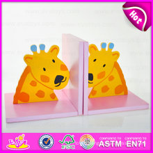 2015 Promotion Gift Wooden Bookends for Kids, Lovely Wooden Toy Bookend for Children, Wholesale Decorative Wooden Bookends W08d040